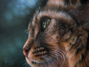 Bobcat wildlife painting