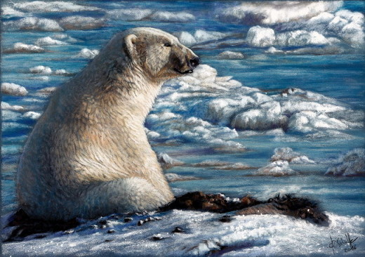 Wildlife art Polar Bear