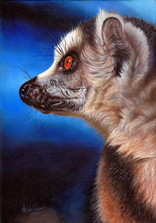 Wildlife art Lemur